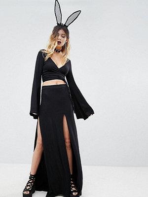 Rokoko High Waist Maxi Skirts With Thigh Splits Co-Ord