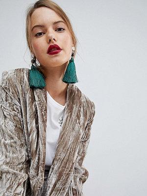 ASOS örhängen XL Pearl and Tassel Drop Earrings