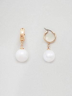 ASOS örhängen Pearl Drop Hoop Earrings