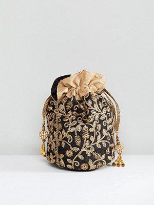Park Lane kuvertväska Embroidered Hand Made Drawstring Mini Bag