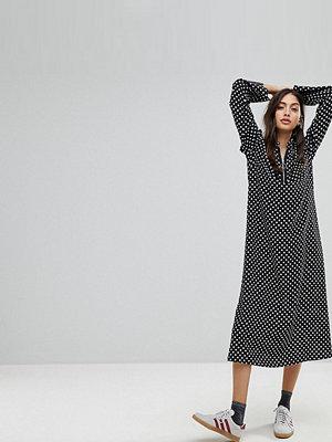 Reclaimed Vintage Inspired Polka Dot Midi Dress