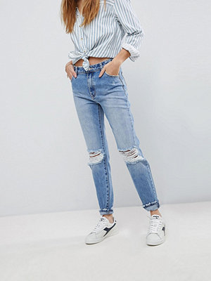 Rollas Rolla's Miller High Waisted Skinny Jean with Ripped Knee