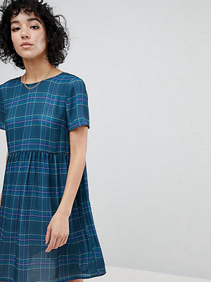 Reclaimed Vintage Inspired Checked Smock Dress