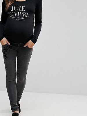 Mamalicious Embroidered Jeans