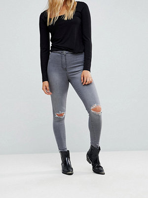 Parisian Ripped Knee Skinny Jeans