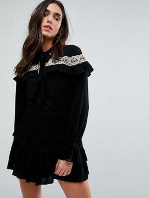 Tularosa Embroidered Cape Dress