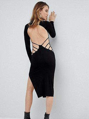 Asos Tall Strappy Open Back Midi Bodycon Dress