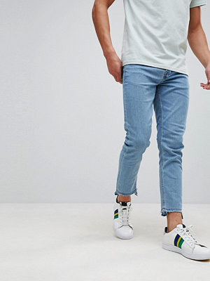 Only & Sons Skinny Fit Jeans With Raw Hem In Stretch