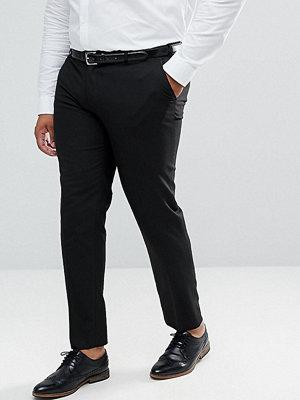 ASOS PLUS Skinny Smart Trousers in Black