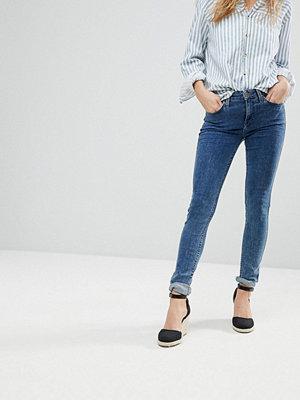 Lee Jodee Mellanhögt skurna smala jeans Riot blå