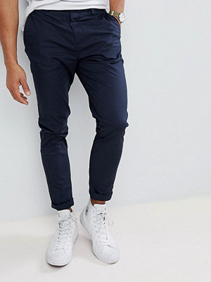 Burton Menswear Tapered Chino In Navy