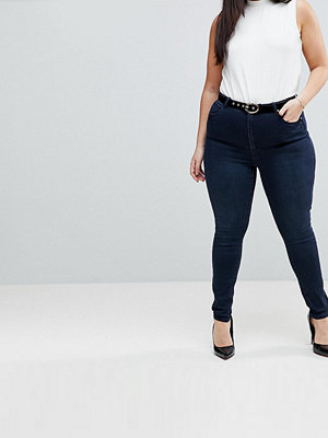 ASOS Curve 'SCULPT ME' High Waist Premium Jeans in Vivienne Dark Wash