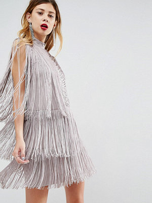 ASOS Premium Fringe Shift Mini Dress