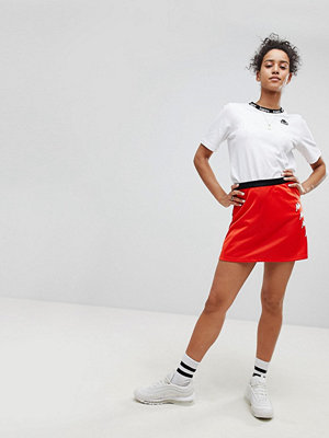 Kappa Mini Skirt With Popper Side And Logo Print