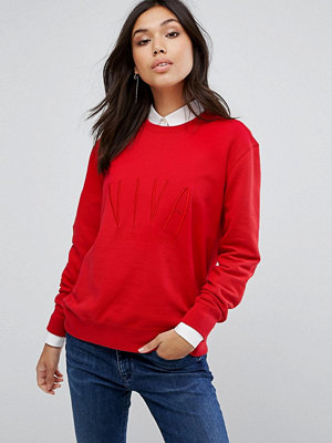 """BOSS Casual Sweatshirt med """"Viva""""-text"""