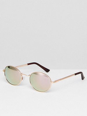 AJ Morgan Round Sunglasses In Rose Gold - Rose gold