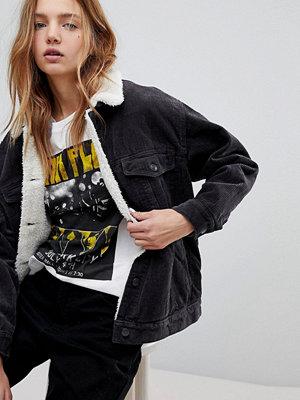 Pull&Bear Cord Shearling Jacket