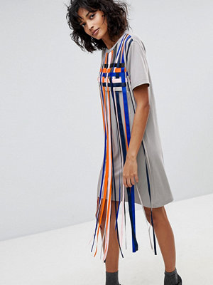 2nd Day Mayra Striped Tassle T-Shirt Dress