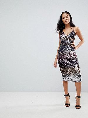 Club L Ombre Sequin Midi Dress