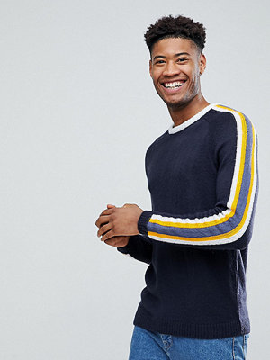 ASOS TALL Fluffy Jumper With Contrast Stripes