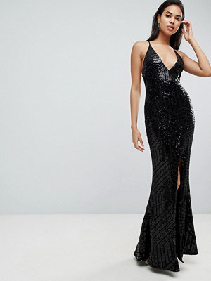 Club L Cami Strap All Over Glitter Maxi Dress