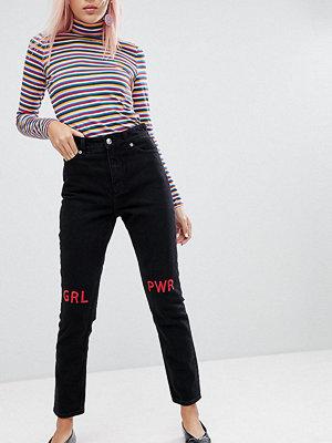 Monki Kimomo Girl Power Mom Jeans