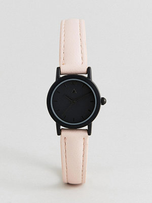 ASOS Curve Mini Black Face and Blush Strap Watch