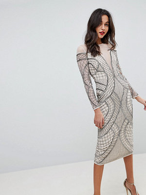 ASOS Edition Embellished Ergonomic Bodycon Midi Dress