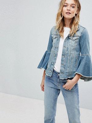 Jeansjackor - Pepe Jeans Ruffle Sleeve Denim Jacket