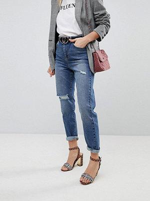 Miss Selfridge Ripped Knee Mom Jeans