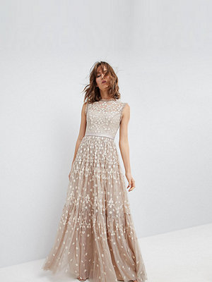 Needle & Thread High Neck Maxi Gown with Embroidery and Embellishment