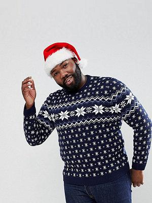 ASOS PLUS Christmas Jumper With Snowflake Design