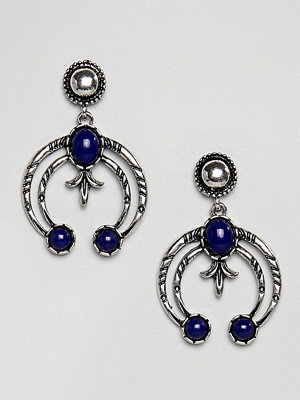 Reclaimed Vintage armband Inspired Drop Engraved Earrings ()