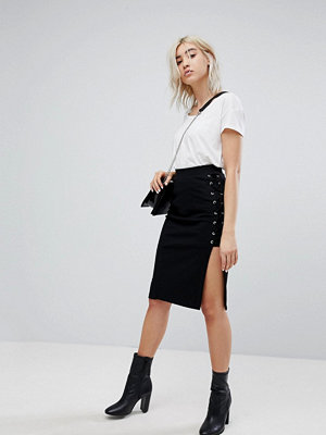 Bershka Lace Up Pencil Skirt