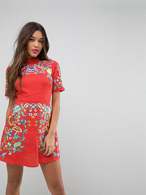 ASOS PREMIUM Mini Embroidered Dress
