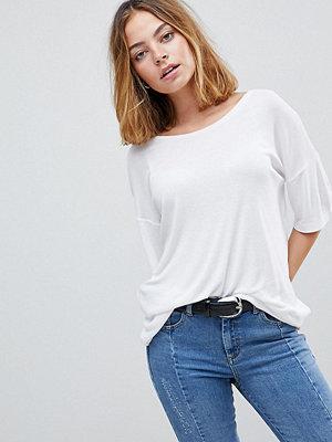 ASOS Petite Ribbstickad baraxlad T-shirt
