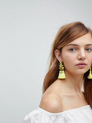 ASOS örhängen Teardrop Jewel and Triple Tassel Earrings