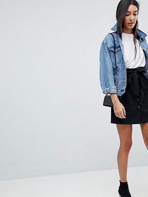 Asos Tall Tailored Paper Bag Waist Mini Skirt
