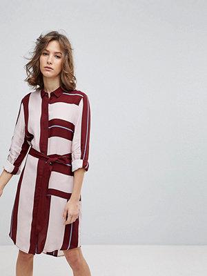 Selected Femme Uniform Stripe Shirt Dress