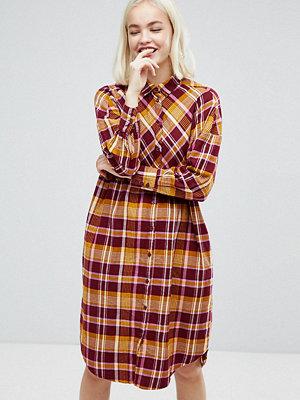 Monki Check Shirt Dress