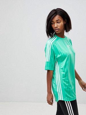 T-shirts - Adidas Originals Nova Grön jersey i jacquard-tyg med tre ränder