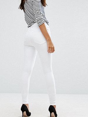Asos Tall Ridley Vita jeans i skinny fit med hög midja