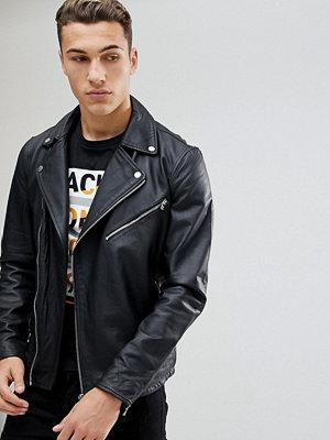 Skinnjackor - Jack & Jones Premium Leather Biker Jacket