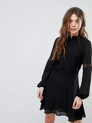 New Look Crochet Insert High Neck Dress