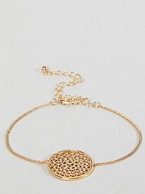 ASOS Curve armband Filigree Disc Charm Bracelet