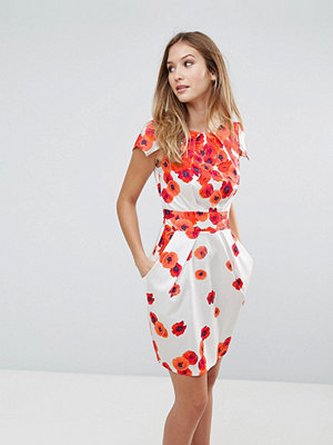 Closet London Closet Floral Tie Back Dress