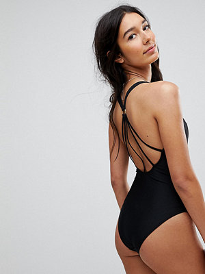 Asos Tall Strappy Ring Back Swimsuit