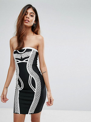 Love & Other Things Contrast Bandage Bodycon Dress