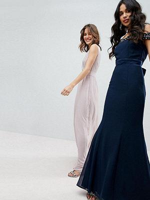 Maya Bardot Sequin Detail Maxi Dress With Bow Back Detail