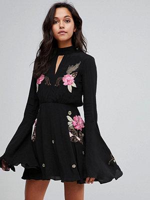 Millie Mackintosh Rose Embroidery Flare Dress